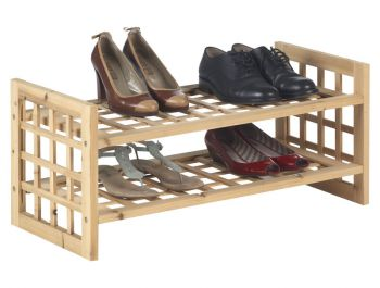 houten schoenrek